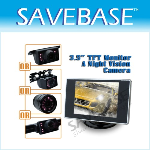 "Car Rear View Kit - 3.5"" LCD Monitor + Backup Camera"