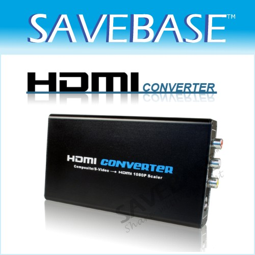 Upscaler Up-scale S-Video AV To HDMI Converter 1080P