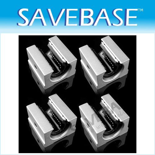 4x CNC DIY Units 16mm SBR16UU Linear Ball Bearing Block For Milling Machine