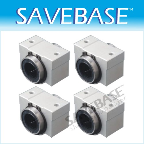 4pcs 8mm SC8VUU Linear Ball Slide Bearing Bush Bushing
