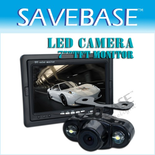 "7"" TFT Monitor + Mini Night Vision Camera Rear-view KIT"