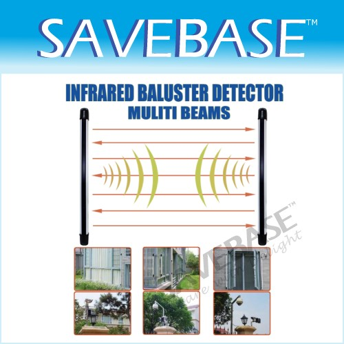 Alarm Dual Beam Photoelectric Infrared Detector 195feet
