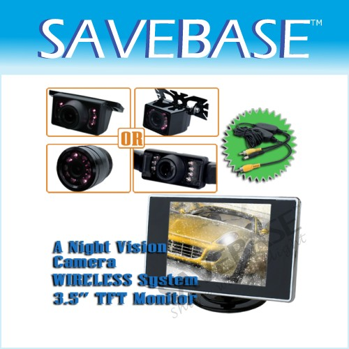"3.5"" Rearview TFT LCD Monitor + Night Vision Camera NEW"