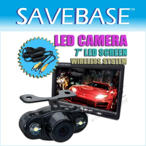 "Car Rear View Kit - 7"" LCD Monitor + Wireless Camera"
