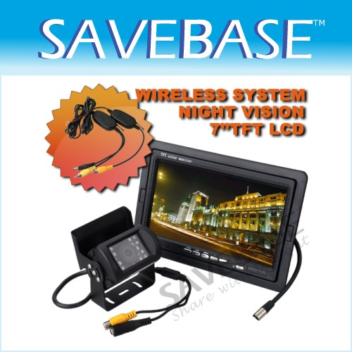 "WATERPROOF CMOS Camera + 7"" TFT LCD Rearview Monitor"