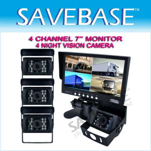 BUS TRUCK SECURITY SYSTEM- 4x Rear View Camera+ Monitor