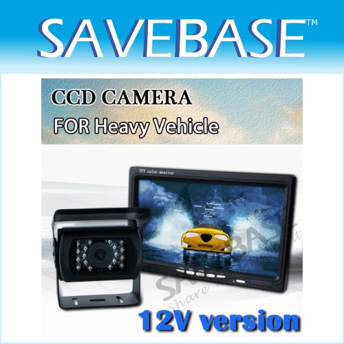 "Car Rear View Kit 7"" Monitor + CCD Reversing Camera Bus"
