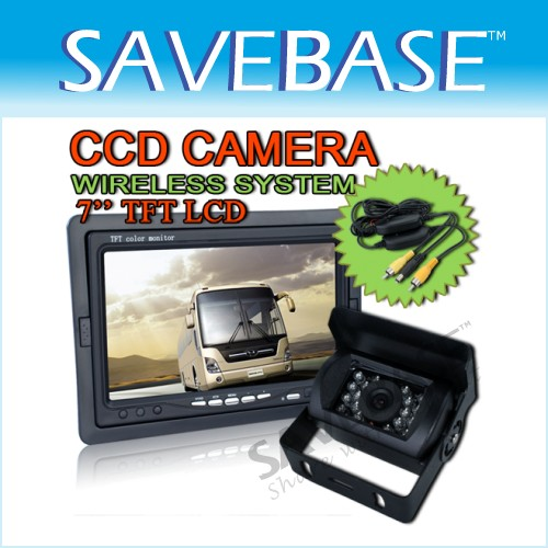 TRUCK BUS Reversing Rear View CCD Camera + LCD Monitor