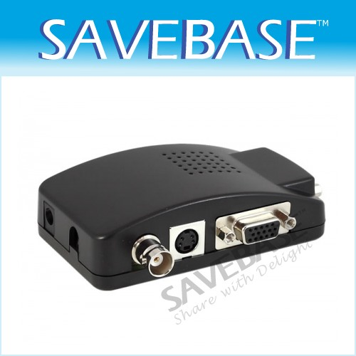 BNC S-video VGA To VGA CCTV Converter Adapter 5V-19V