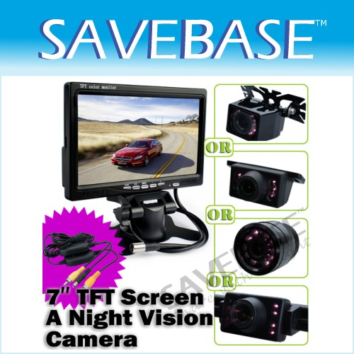 "Car Rear View Kit- 7"" LCD Monitor +Wireless CMOS Camera"
