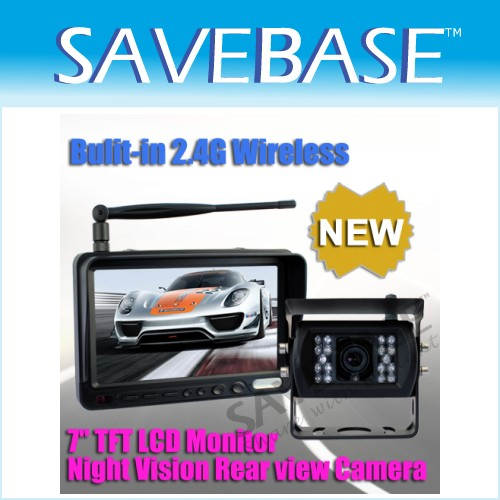 "Horsebox Rear 7"" LCD Monitor +WIRELESS Reversing Camera"