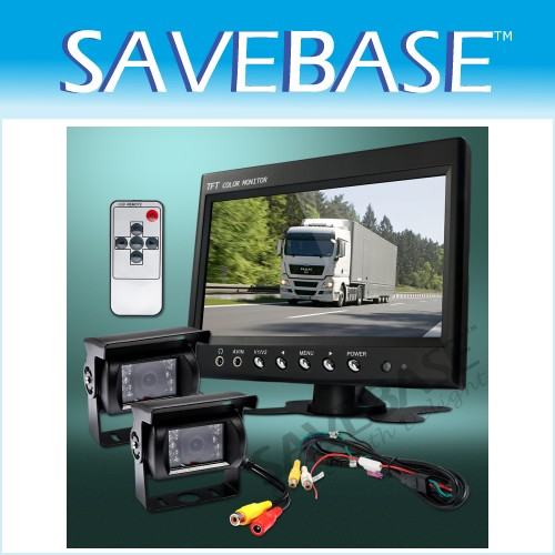 "7"" Roof/ Dash Rearview Monitor + White Reversing Camera"