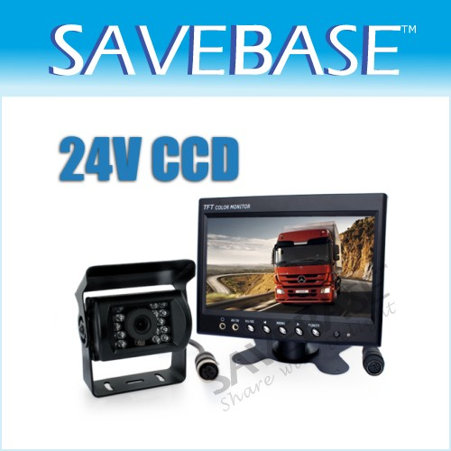 "24V 7"" LCD Rearview Monitor + Trucks Lorry CCD Reversing Camera HGV Backup Kit"