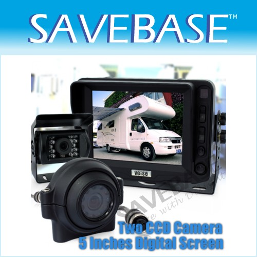 Side Reversing System Monitor+2 Camera For HGV Rearview