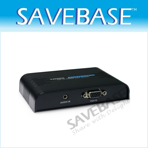 PC VGA Analog To HDMI Full HD Video Audio Converter Adapter 720P/1080P Upscaler