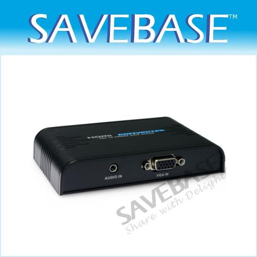 PC VGA Analog To HDMI Full HD Video Audio Converter Adapter 720P/1080P Upscaler