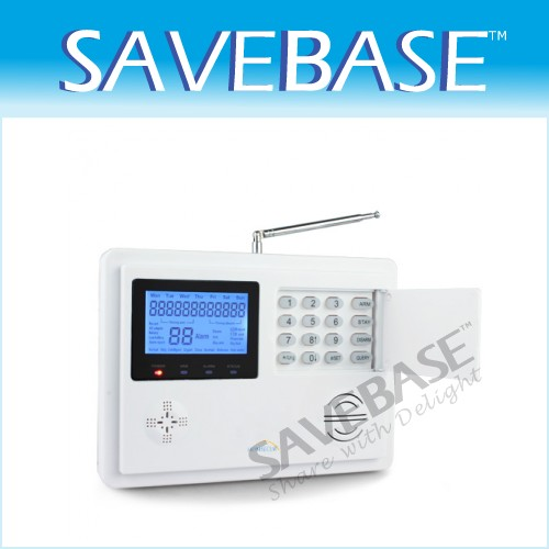 GSM/PSTN Telephone Alarm System PIR Motion Door GAP Sensor Long-range Control