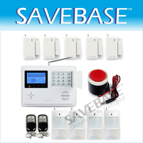 Wireless GSM PSTN Intercom Mornitor House Intruder Alarm System Voice Prompt