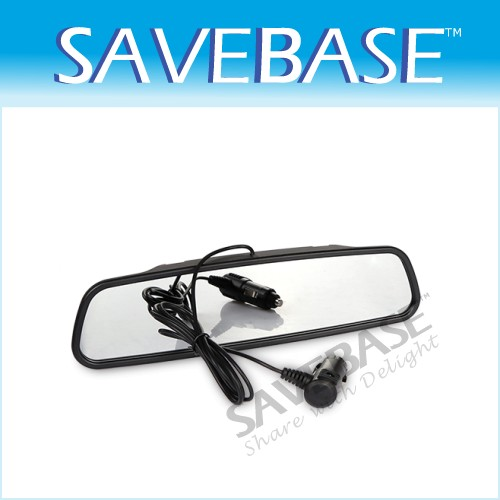 WIRELESS MIRROR LED DISPLAY CAR VAN REVERSING REAR SENSORS 4 PARKING KIT