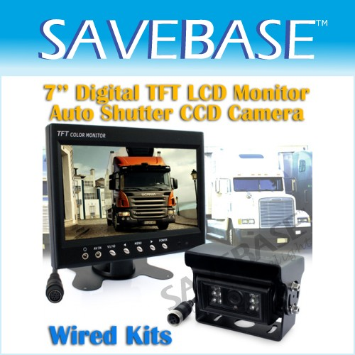 "7"" 2 Ch Video Monitor + New Generation Auto Heating CCD Camera Back Up Kit"
