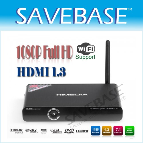 Network Media Player 256 MB DDR2/500MHz 802.11n Wireless 1080P Web Browser