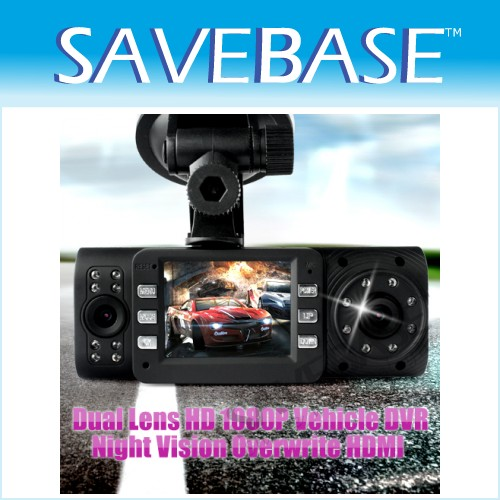 Mini Dual Lens HD Car DVR 1080P Cycle Record Night Vision Wide Angle Black Box