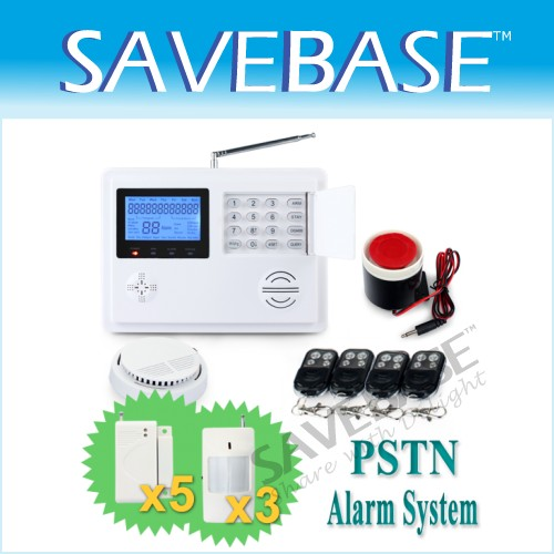 Wireless Phone Line Home Alarm System Timely Control Arm/Disarm + Smoke Detector
