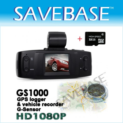 120° HD 1080P Loop Recording Car Video Recorder DVR + GPS G-sensor + 32GB Card
