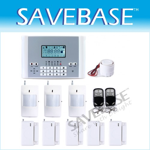 Wireless GSM HOMSECUR Intruder Alarm System + P.I.R*3 +Gap*5 + Remote Control*2