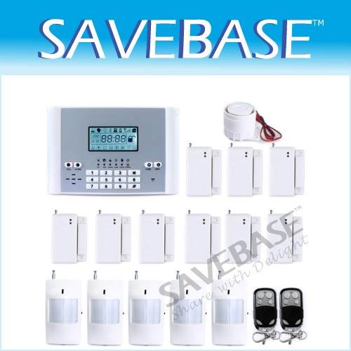 Wireless GSM Intruder Alarm System + P.I.R*5 +Window Gap*9 + Remote Controller*2