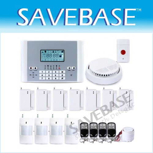 105 Wireless/Wired Zones GSM SMS Home Alarm System +1*Panic Button 1*Smoke