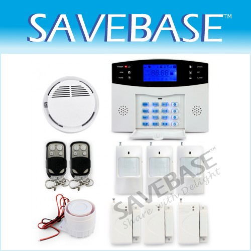 Wireless Gsm Sms Security Intruder Alarm System Kit Intercom Keypad Somke Sensor
