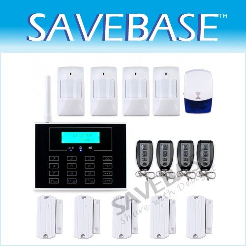Wireless GSM Phone Line HOMSECUR Touch Keypad Alarm System Smart Zones Setting