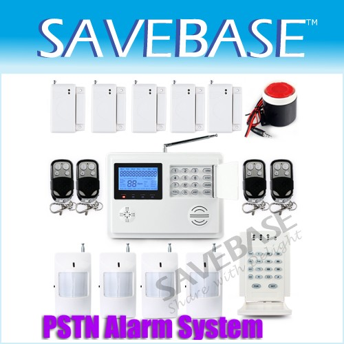 Wireless Phone Line Auto-dial Alert Home Burglar Alarm System + Password Keypad