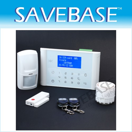 Wireless&Wired GSM PSTN Home Security Alarm System With Touch Keypad