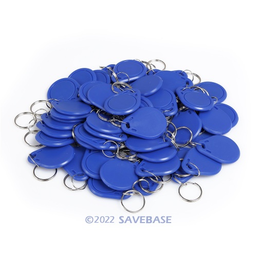 50pcs Blue 13.56MHz IC Keyfobs for Access Control and Other IC Reader Use