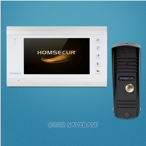 """HOMSECUR 7"""" Video&Audio Smart Doorbell with Memory Monitor for House/Flat"""