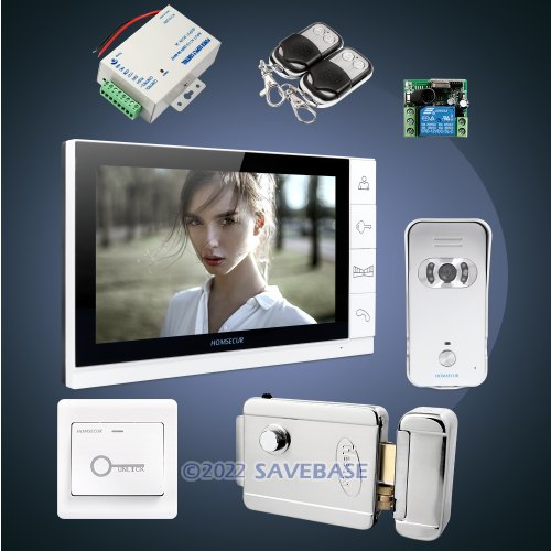 "HOMSECUR 9"" Video&Audio Smart Doorbell+Ultra-large Screen Monitor for House/Flat"